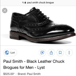Paul Smith Chuck Brogue in Black size 7